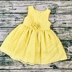 MARMELLATA⚡️Yellow Eyelets Toddlers Tulle Dress_2T